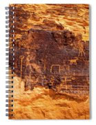 Valley Of Fire Ancient Petroglyphs Spiral Notebook