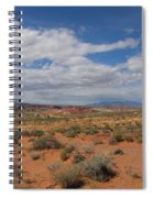 Valley Of Fire Horizon Spiral Notebook