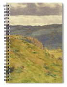 Valley Of The Teme, A Sunny November Morning Spiral Notebook