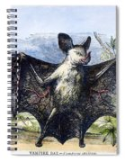Vampire Bat Spiral Notebook