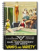Vamps And Variety 1919 Spiral Notebook