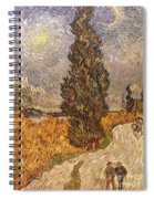Van Gogh: Cypresses, 1889 Spiral Notebook