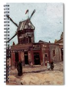 Van Gogh: La Moulin, 1886 Spiral Notebook