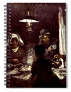 Van Gogh: Meal, 1885 Spiral Notebook