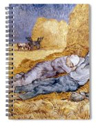 Van Gogh: Noon Nap, 1889-90 Spiral Notebook