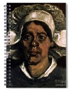 Van Gogh: Peasant, 19th C Spiral Notebook