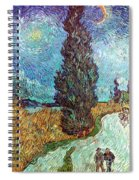 Van Gogh: Road, 1890 Spiral Notebook