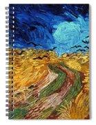 Van Gogh: Wheatfield, 1890 Spiral Notebook