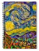 Van Gogh's 'starry Night' - Hdr Spiral Notebook