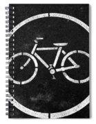 Vancouver Bike Lane- Art By Linda Woods Spiral Notebook