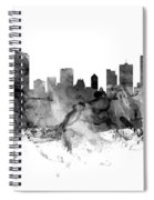 Vancouver Canada Skyline Panoramic Spiral Notebook