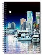Vancouver Harbor Moonrise  Spiral Notebook