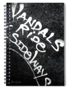 Vandals Ride Sideways Spiral Notebook