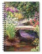 Vandusen Garden Iris Bridge Spiral Notebook