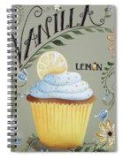 Vanilla Lemon Cupcake Spiral Notebook