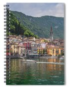Varenna Italy Old Town Waterfront Spiral Notebook
