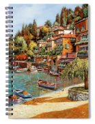 Varenna On Lake Como Spiral Notebook
