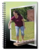 Variation On The Cornhole Game Spiral Notebook