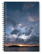 Variations Of Sunsets At Gulf Of Bothnia 5 Spiral Notebook