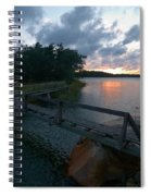 Variations Of Sunsets At Gulf Of Bothnia 6 Spiral Notebook