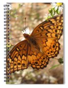 Variegated Fritillary Spiral Notebook