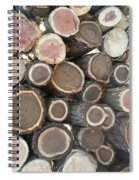 Various Firewood In The Round Spiral Notebook