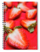 Various Sliced Strawberries Close Up Spiral Notebook