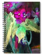 Vase Dancing In The Night Spiral Notebook
