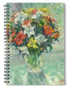 Vase Lilies Painting Spiral Notebook