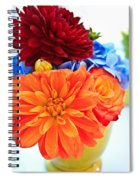 Vase Of Colorful Flowers Spiral Notebook