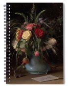 Vase Of Flowers And A Visiting Card Spiral Notebook