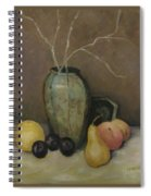 Vase With Fruit Spiral Notebook