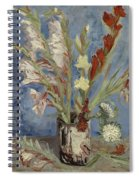 Vase With Gladioli And Chinese Asters Paris, August - September 1886 Vincent Van Gogh 1853  1890 Spiral Notebook