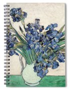 Vase With Irises Spiral Notebook