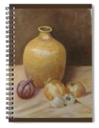 Vase With Onion Spiral Notebook