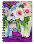 Vases Of White Flowers Spiral Notebook