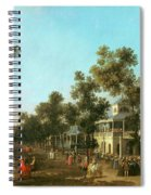 Vauxhall Gardens The Grand Walk Spiral Notebook