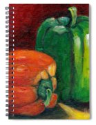 Vegetable Still Life Green And Orange Pepper Grace Venditti Montreal Art Spiral Notebook