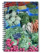 Vegetables At German Market Spiral Notebook