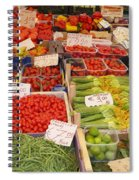 Vegetables At Italian Market Spiral Notebook