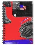 Vehicle Liberty Bell Paul Revere Flag Bicentennial Of Constitution Tucson Arizona 1987-2015 Spiral Notebook