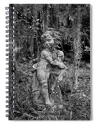 Veil Of Vines Black And White Spiral Notebook