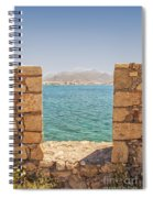 Veiw Of Lerapetra From Kales Fort Portrait Composition Spiral Notebook