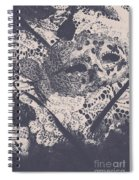 Venetian Ball Room Mask Next To Wilted Flowers Spiral Notebook