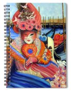 Venetian Carneval Mask With Bird Cage Spiral Notebook