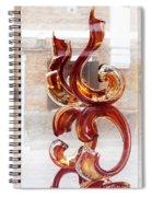 Venetian Glass Style Spiral Notebook