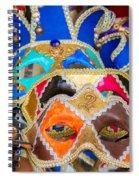 Venetian Masks Spiral Notebook