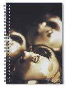 Venetian Masquerade Mask Rings Spiral Notebook