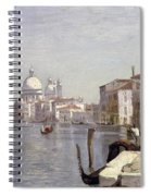 Venice - View Of Campo Della Carita Looking Towards The Dome Of The Salute Spiral Notebook