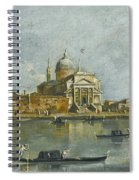 Venice. A View Of The Church Of San Giorgio Maggiore Spiral Notebook